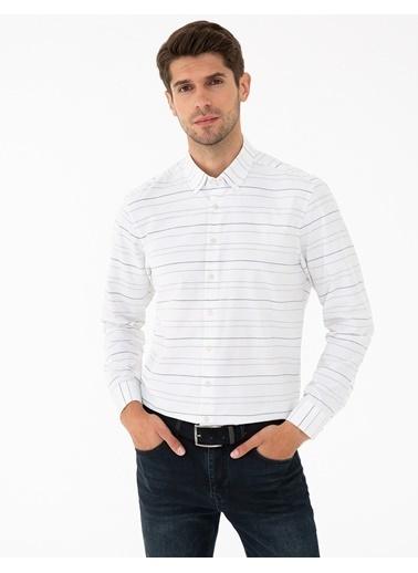 Pierre Cardin G021Gl004.000.1294505.Vr013 Gömlek Uzunk Beyaz